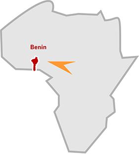 Die Lage von Benin